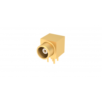 MCX / RIGHT ANGLE JACK RECEPTACLE FOR PCB SOLDER LEGS