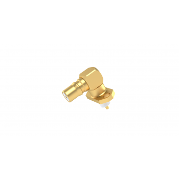 QMA / 2 HOLE FLANGE JACK RECEPTACLE WITH CYLINDRICAL CONTACT