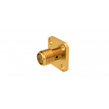 SMA / UNIVERSAL SQUARE FLANGE JACK RECEPTACLE FOR PIN 0.93MM