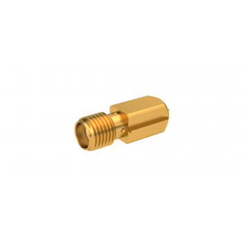 SMA / STRAIGHT JACK RECEPTACLE FOR PCB SMT TYPE - EDGE CARD