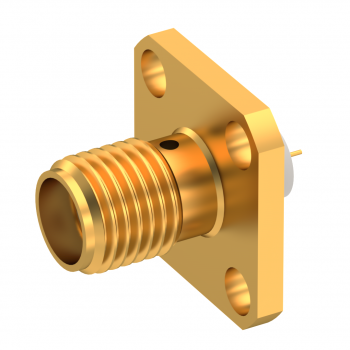 SMA / SQUARE FLANGE JACK RECEPTACLE WITH SHOULDER CONTACT