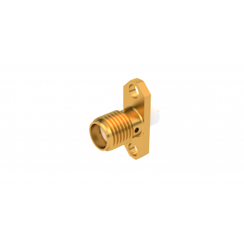 SMA / 2 HOLE FLANGE JACK RECEPTACLE WITH SHOULDER CONTACT