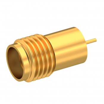 SMA / SOLDERED JACK RECEPTACLE HERMETIC - WITH CYLINDRICAL CONTACT