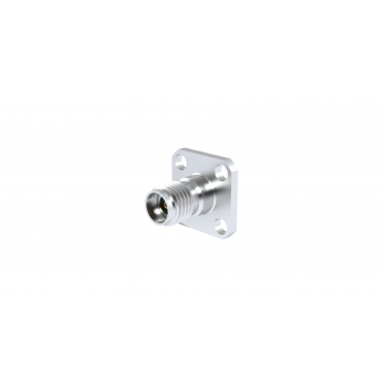 SMA 2.9 / SQUARE FLANGE FEMALE RECEPTACLE WITH CYLINDRICAL CONTACT