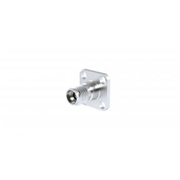 SMA 2.9 / SQUARE FLANGE FEMALE RECEPTACLE PANEL SEALED FOR PIN 0.3MM WITH EMI GASKET