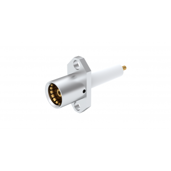 BMA / 2 HOLE FLANGE JACK RECEPTACLE WITH CYLINDRICAL CONTACT
