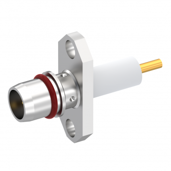 BMA / 2 HOLE FLANGE MALE RECEPTACLE WITH CYLINDRICAL CONTACT