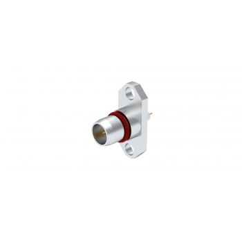 BMA / 2 HOLE FLANGE PLUG RECEPTACLE WITH CYLINDRICAL CONTACT