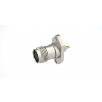 TNC / 2 HOLE FLANGE JACK RECEPTACLE WITH SOLDER POT CONTACT
