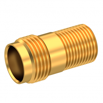 TNC / THREAD-IN JACK RECEPTACLE FRONT MOUNT WITH CYLINDRICAL CONTACT