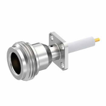 N / 1/2 INCH SQUARE FLANGE JACK RECEPTACLE WITH CYLINDRICAL CONTACT