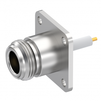 N / SQUARE FLANGE JACK RECEPTACLE WITH CYLINDRICAL CONTACT
