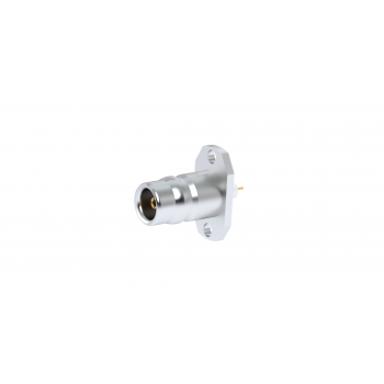 QN / 2 HOLE REDUCED FLANGE RECEPTACLE WITH TAB CONTACT