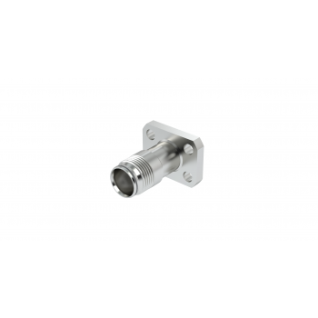 NEX10 / RECTANGLE FLANGE RECEPTACLE 14.7 x 19.5 PANEL SEAL WITH CYLINDRICAL CONTACT