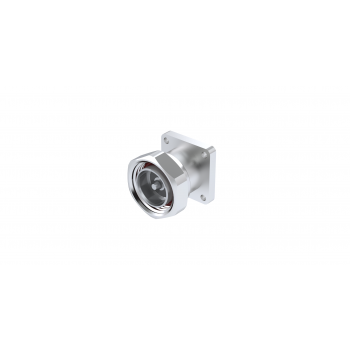 7-16 / SQUARE FLANGE PLUG RECEPTACLE WITH CYLINDRICAL CONTACT