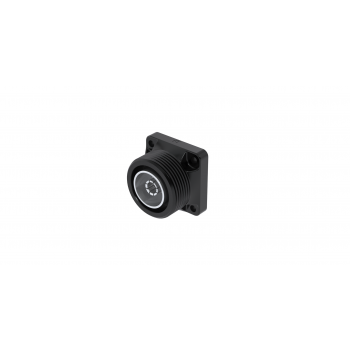 7-16 / COMPOSITE SQUARE FLANGE JACK RECEPTACLE-PANEL SEAL WATERPROOF INTERFACE-FRONT MOUNTING M3 SCREW