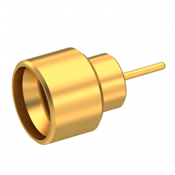 SMPM / HERMETIC STRAIGHT MALE RECEPTACLE SOLDER MOUNT SMOOTH BORE