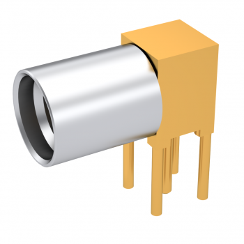 SMP / RIGHT ANGLE RECEPTACLE SOLDER TYPE SMOOTH BORE