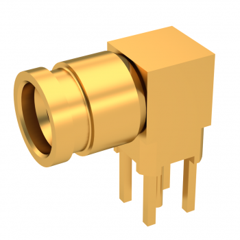SMP-LOCK / RIGHT ANGLE JACK PCB RECEPTACLE HIGH TEMP RATED
