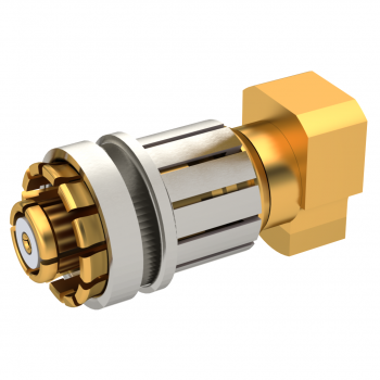 SMP-LOCK / RIGHT ANGLE PLUG SOLDER TYPE CABLE .085