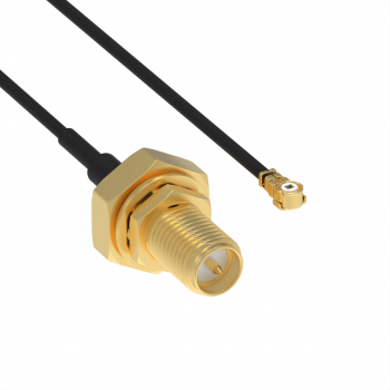 MML H2.5 - RP SMA F CABLE ASSEMBLY 1.37/50S LENGTH 100MM