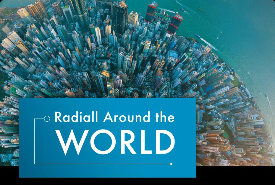Radiall dans le monde (printemps 2020)