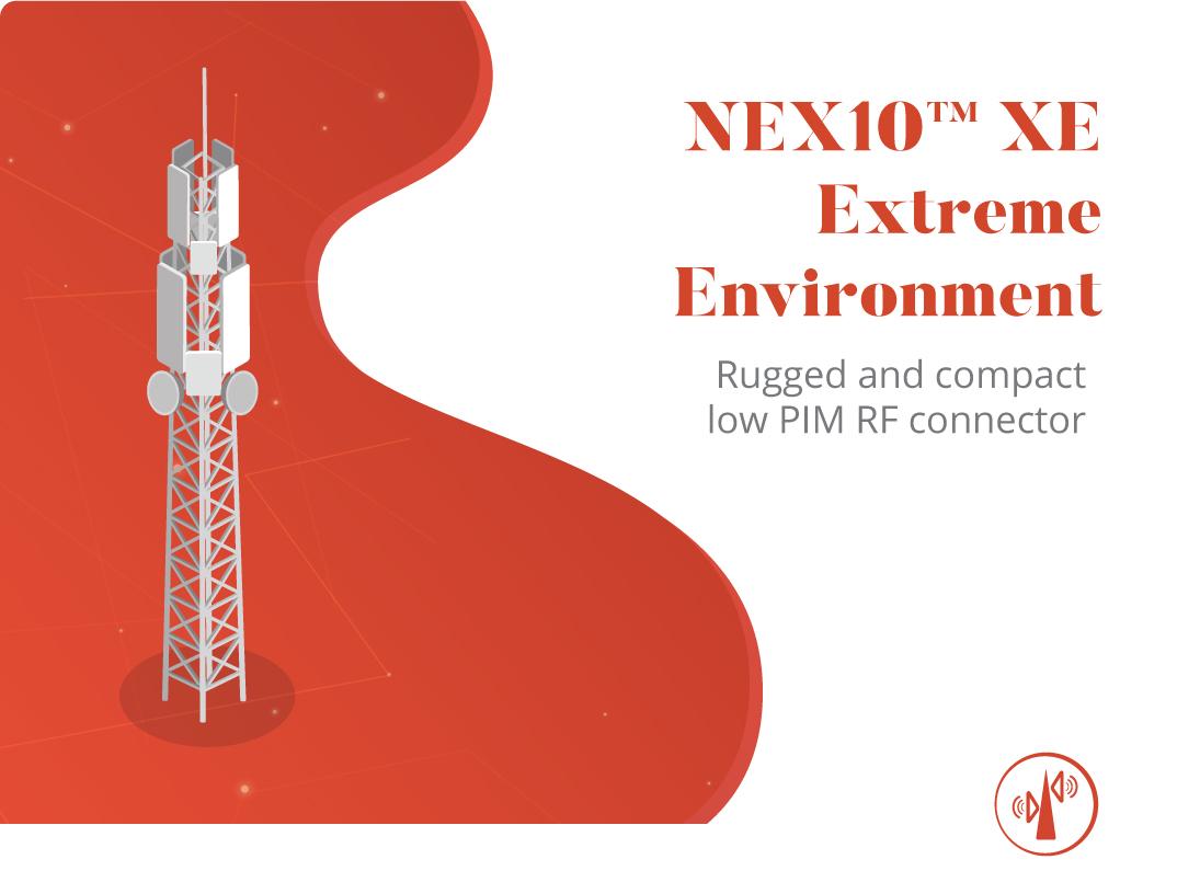 Connecteur RF robuste et compact à faible PIM