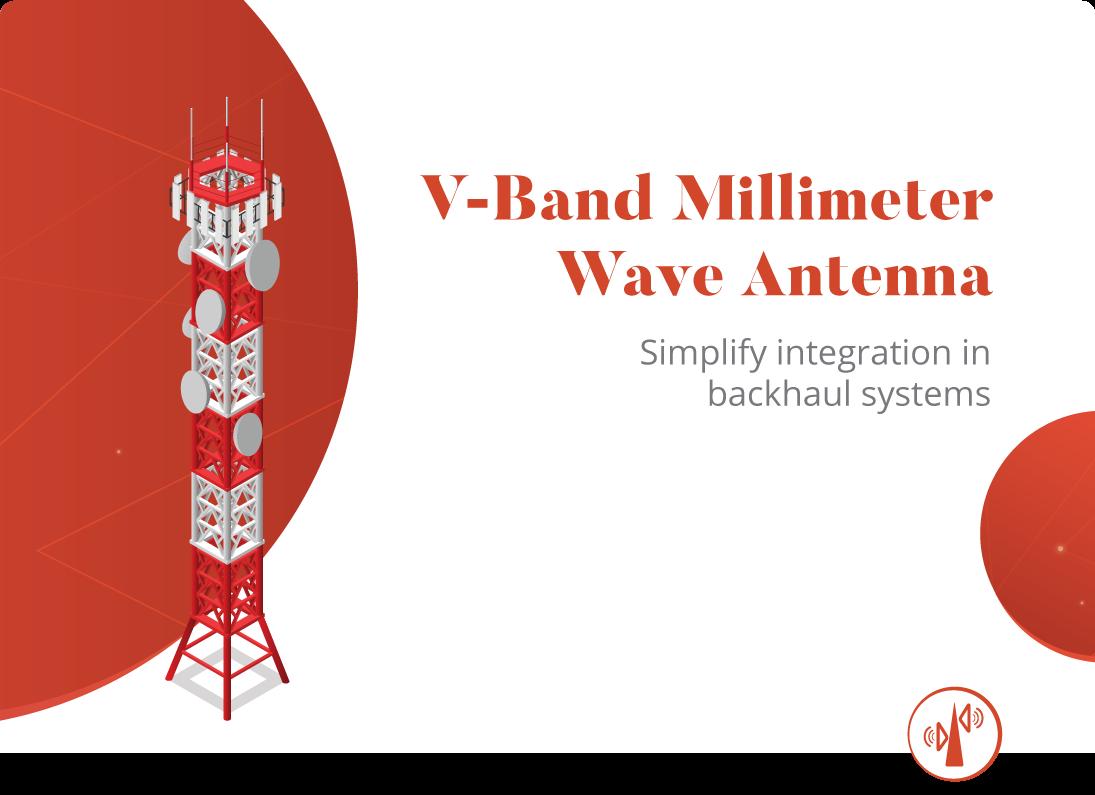 Antenne à ondes millimétriques en bande V