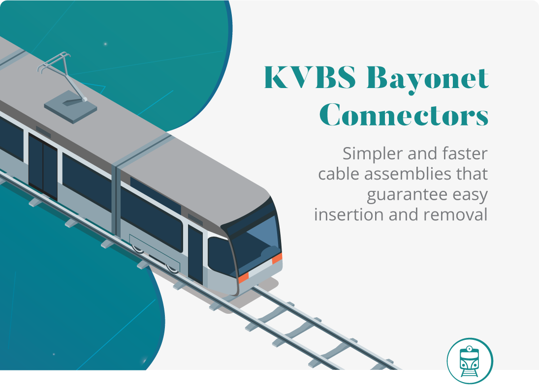 KVBS Bayonet Connectors with Thermoplastic Resin Insert for Railway Applications