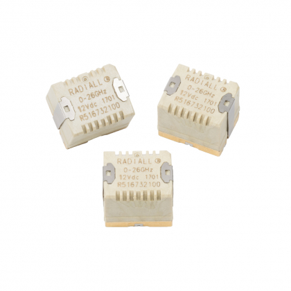 Surface mount relay coaxial switches feature miniature size, micromechanical design and low installation cost.