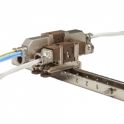 QM quick mating connectors feature a unique slide lock system