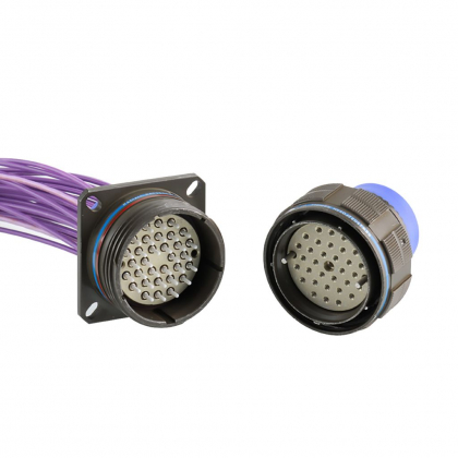 MIL-DTL-38999 for LuxCis® ARINC 801 fiber optic contact is a multi-channel connector