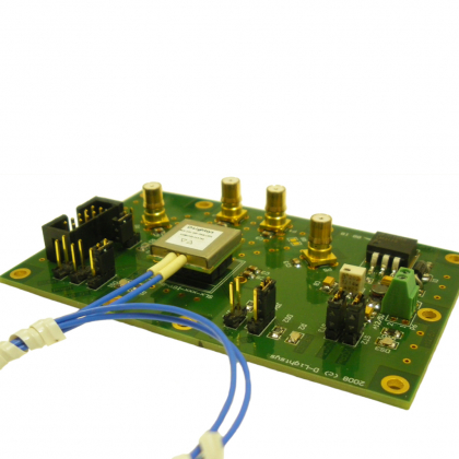 Evaluation board with pluggable package for D-light module