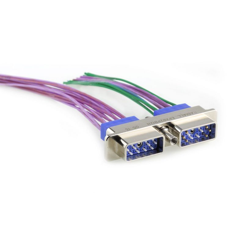 Rectangular multipin connectors for the civil and defense aerospace markets