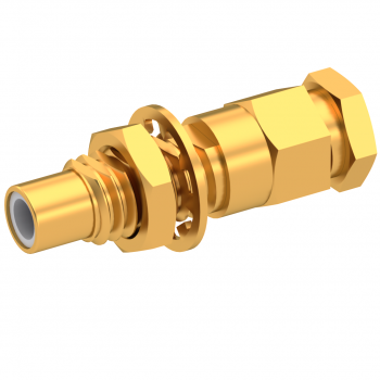 SMC / STRAIGHT JACK MALE SOLDER CLAMP FOR .141''/50 SR GOLD