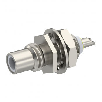 SMC / STRAIGHT JACK RECEPTACLE MALE NICKEL FRONT MOUNT