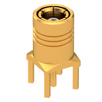 SMB / STRAIGHT PLUG RECEPTACLE FOR PCB TYPE SOLDER LEGS