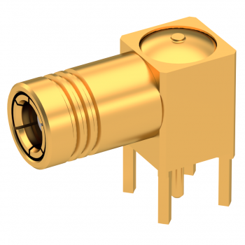 SMB / RIGHT ANGLE PLUG RECEPTACLE FOR PCB TYPE SOLDER LEGS
