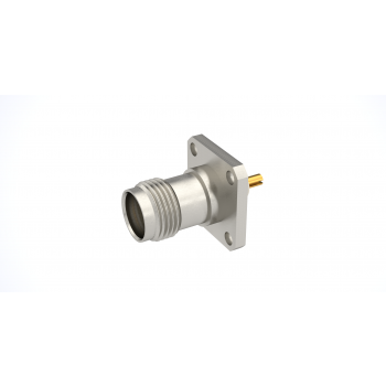 TNC / SQUARE FLANGE JACK RECEPTACLE WITH SLOTTED CONTACT