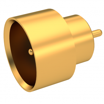 SMP / HERMETIC STRAIGHT MALE RECEPTACLE SOLDER TYPE - SMOOTH BORE