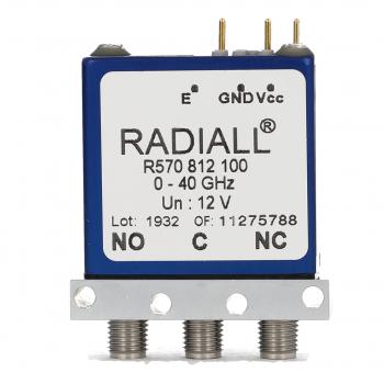 SPDT Ramses 2.4mm 50GHz Latching Self-cut-off Indicators 28Vdc Positive common Pins Terminals