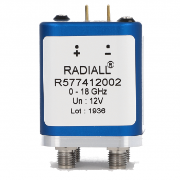 DPDT Ramses 2.4mm 50GHz Latching 28Vdc Positive common Pins Terminals