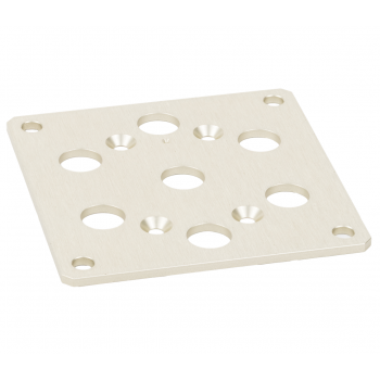 Square flange R573 RAMSES series, 57mm for SP3 to 6 positions  Miniature connector type