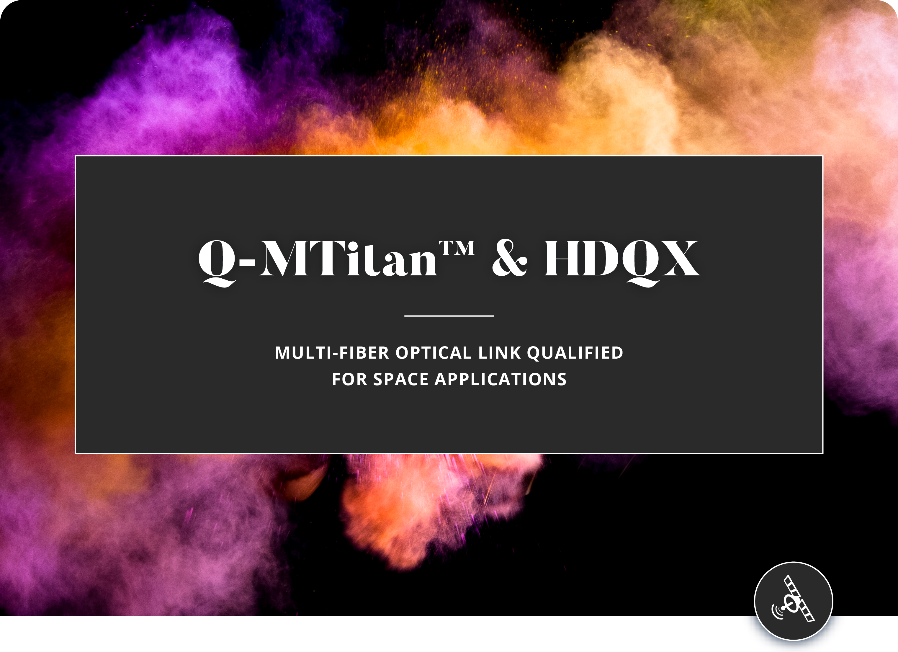 Multi-fiber Optical Link for Space Applications