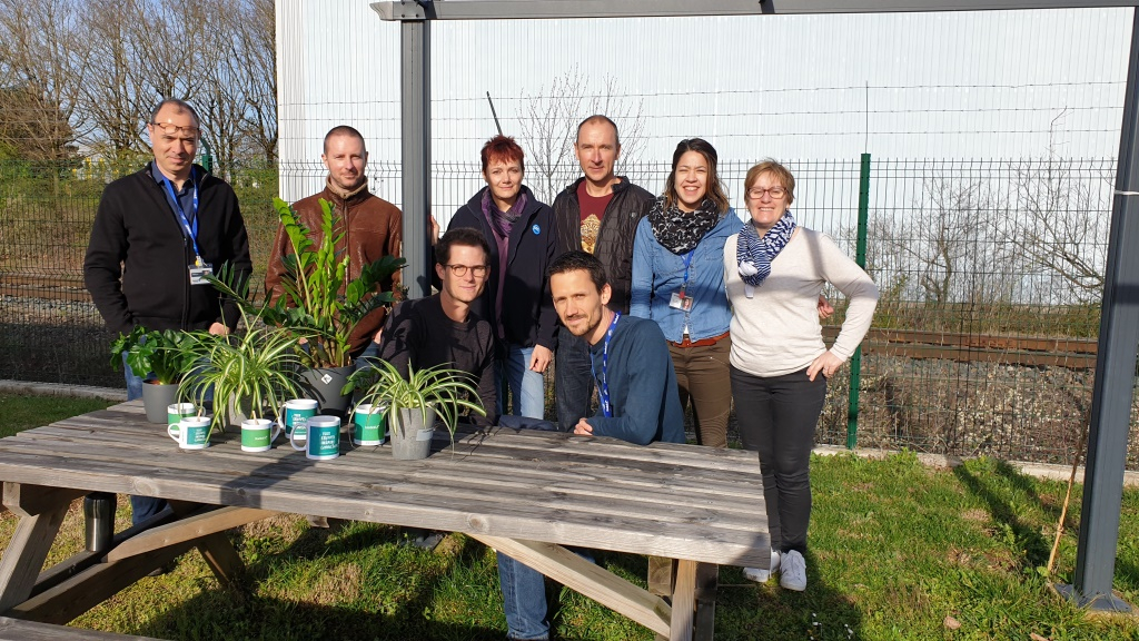"""Radiall Employees and their """"adopted"""" plants"""